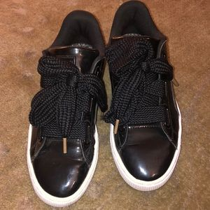 Puma by Cara Delevingne patent leather sneakers